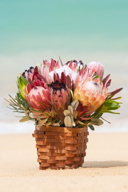 Fall Protea Basket Arrangement