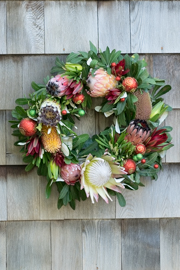 Full Grapevine Wreath with Christmas Ornaments