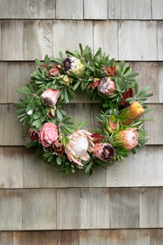 Full Protea Grapevine Wreath