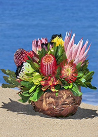 Lani  Protea Basket Arrangement